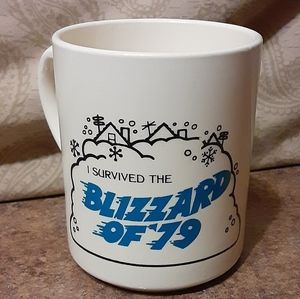 Vintage 1979 I Survived The.Blizzard Of '79 Red Lo